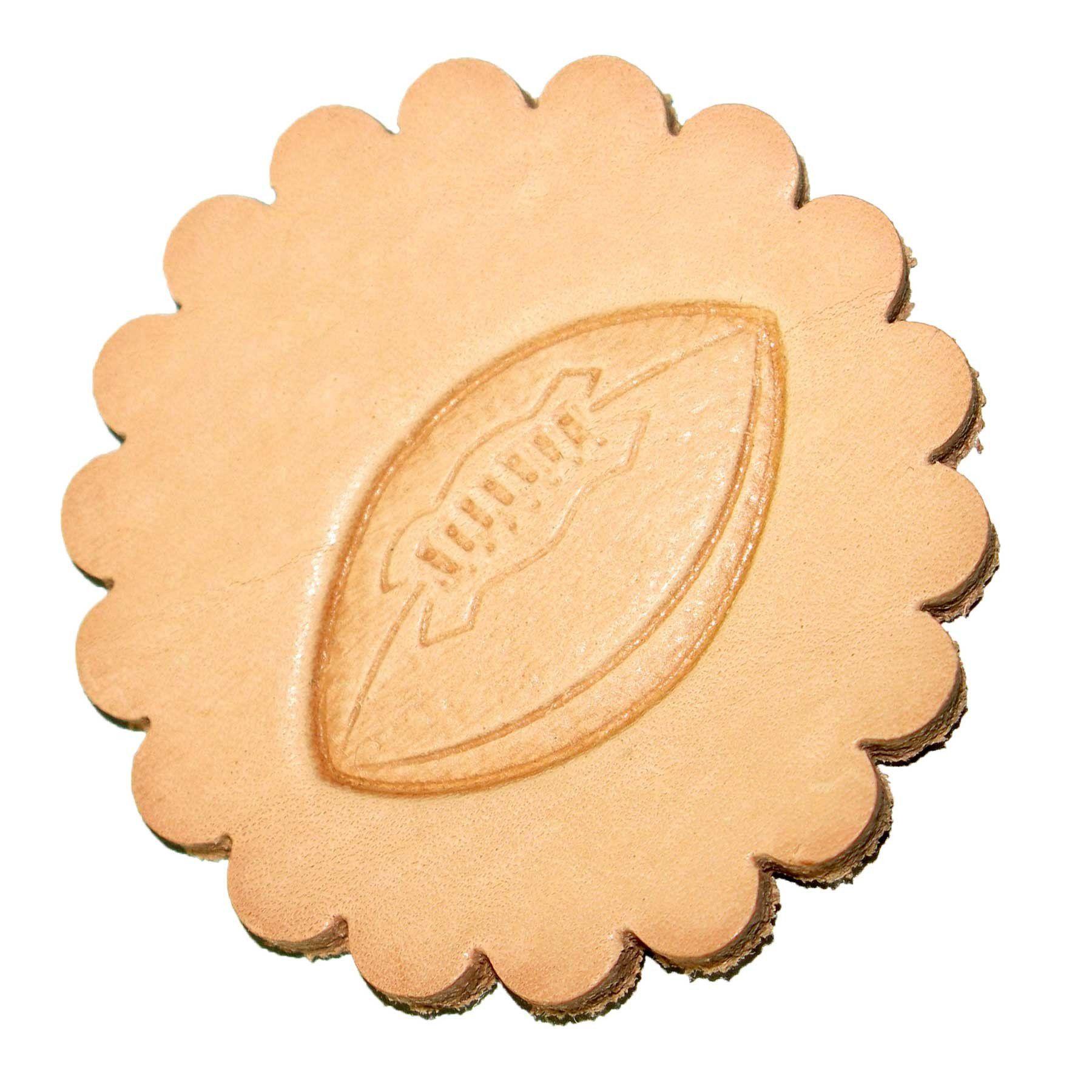 Football 3-D Stamp Leathercraft 8384-00