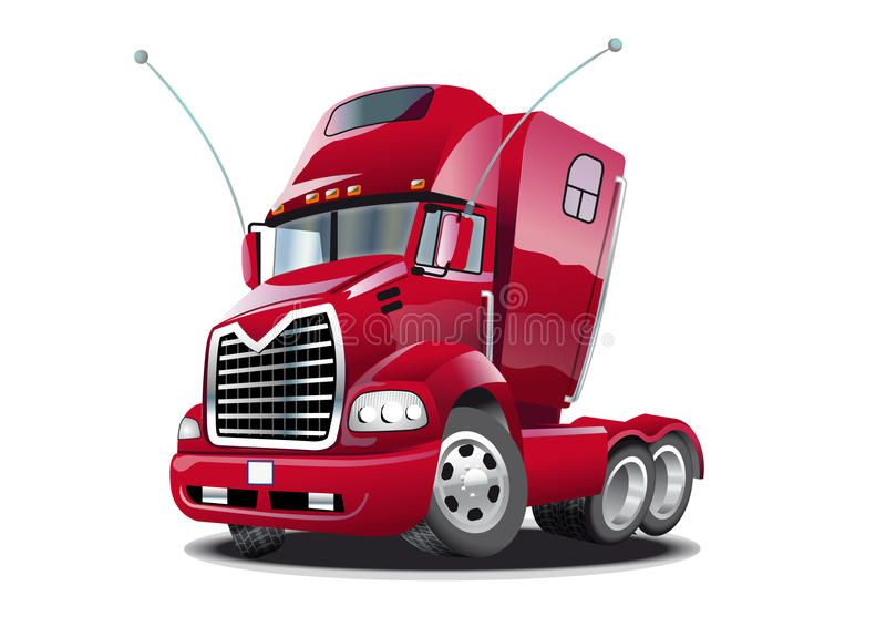 Cartoon Truck This Illustration Represents A Red Cartoon Stylish