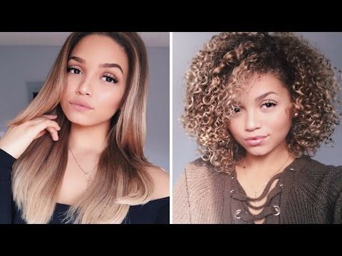 Updated Blow Dry Routine How To Blowdry Curly Hair Straight Ashley Bloomfield Youtube Curly Hair Styles Curly To Straight Hair Straight Hairstyles