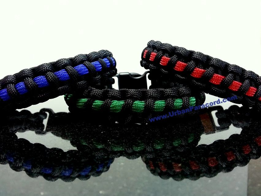 Support the police, military and firefighter Paracord Bracelet  www.UrbanParacord.com