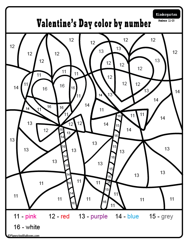 Free printable Valentine's day kindergarten worksheets