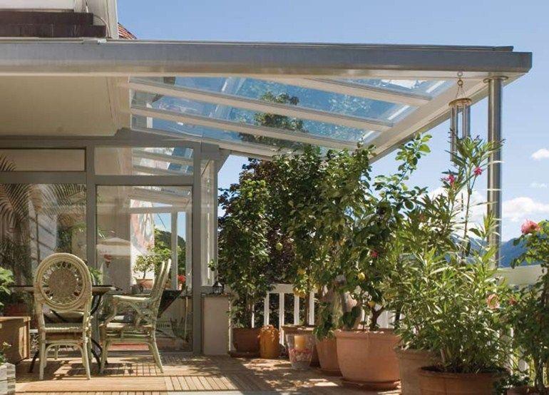 Tettoia Tettoia in vetro by FINSTRAL | veranda posteriore ...
