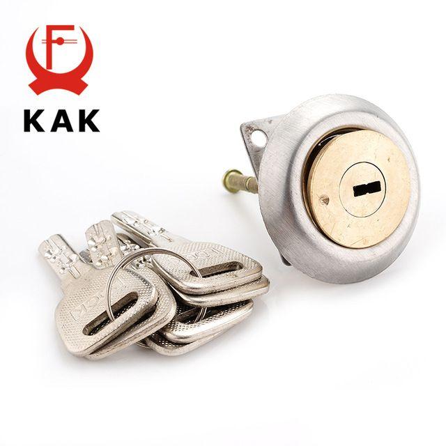 KAK Entrance Door Lock Cylinder Brass Copper Core With 6 Key…