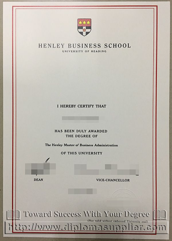 Henley Business School Degree University Of Reading Degree Fake