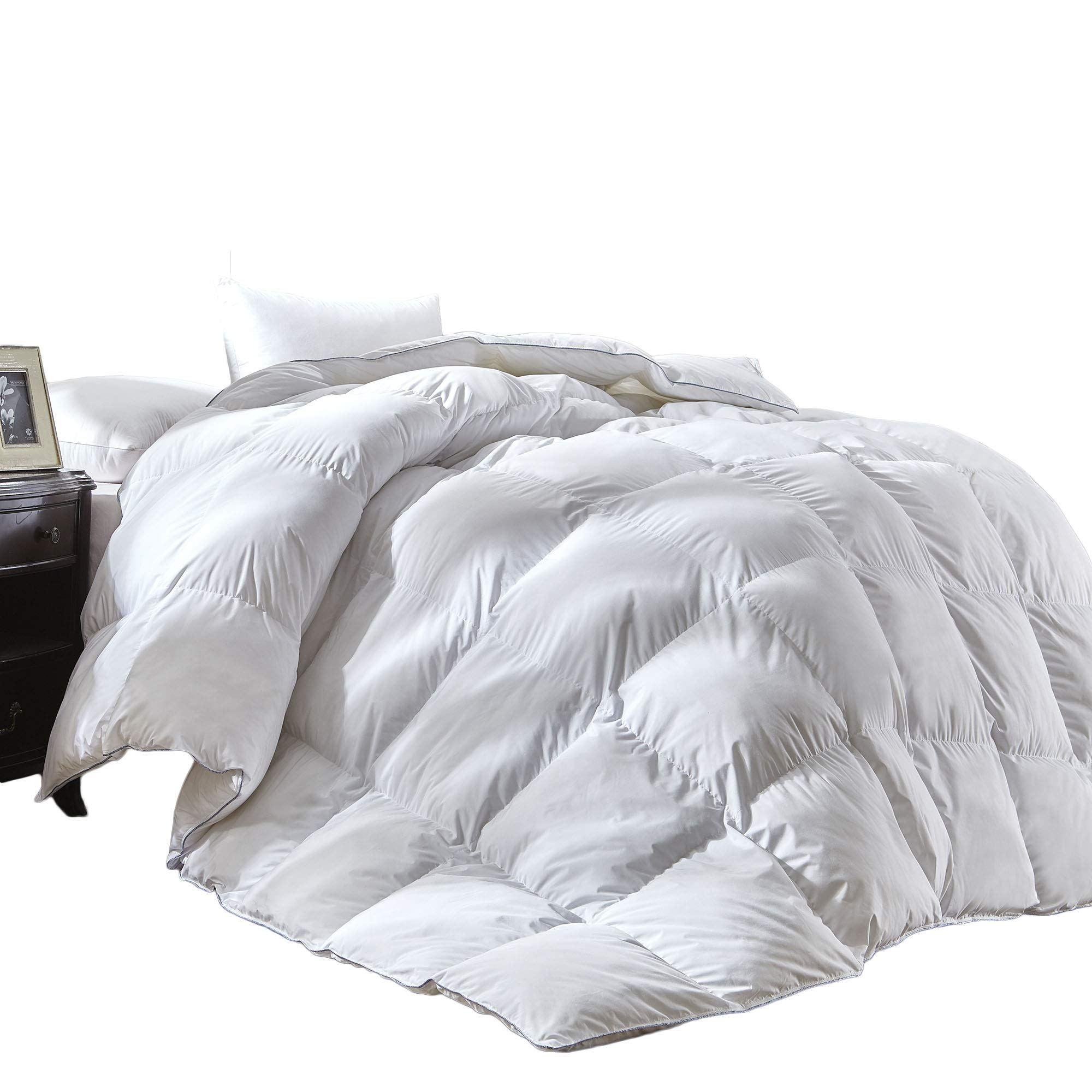 Luxury Queen Size White Goose Down Feather Comforter Duvet Insert