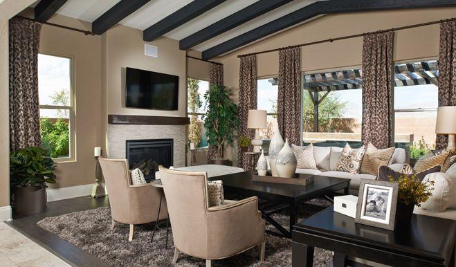 Living Room Queen Creek reagan - family room | crismon heights | richmond american homes