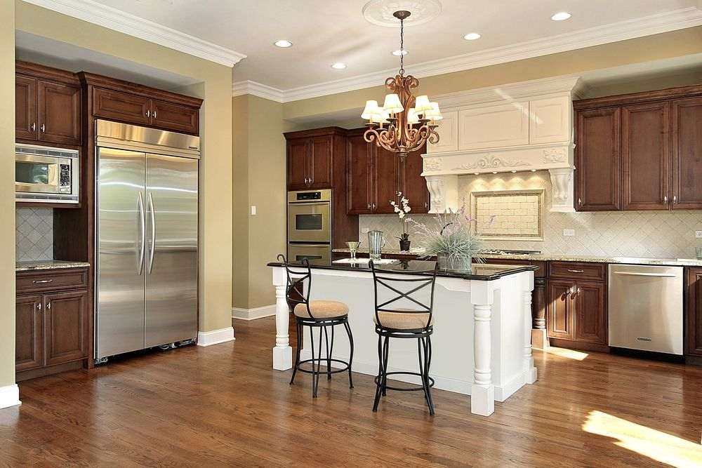 43 Kitchens With Extensive Dark Wood Throughout Best Kitchen Cabinets Wood Floor Kitchen Two Tone Kitchen Cabinets