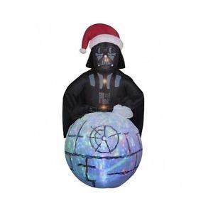 Darth Vader Inflatable Death Star Christmas Decoration Star Wars Yard Lightsound
