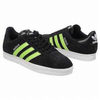 adidas Gazelle 2 Suede Shoes (BlackSlimeWhite) Men's