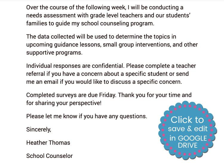 Make conducting a needs assessment easier with a letter to the - needs assessment