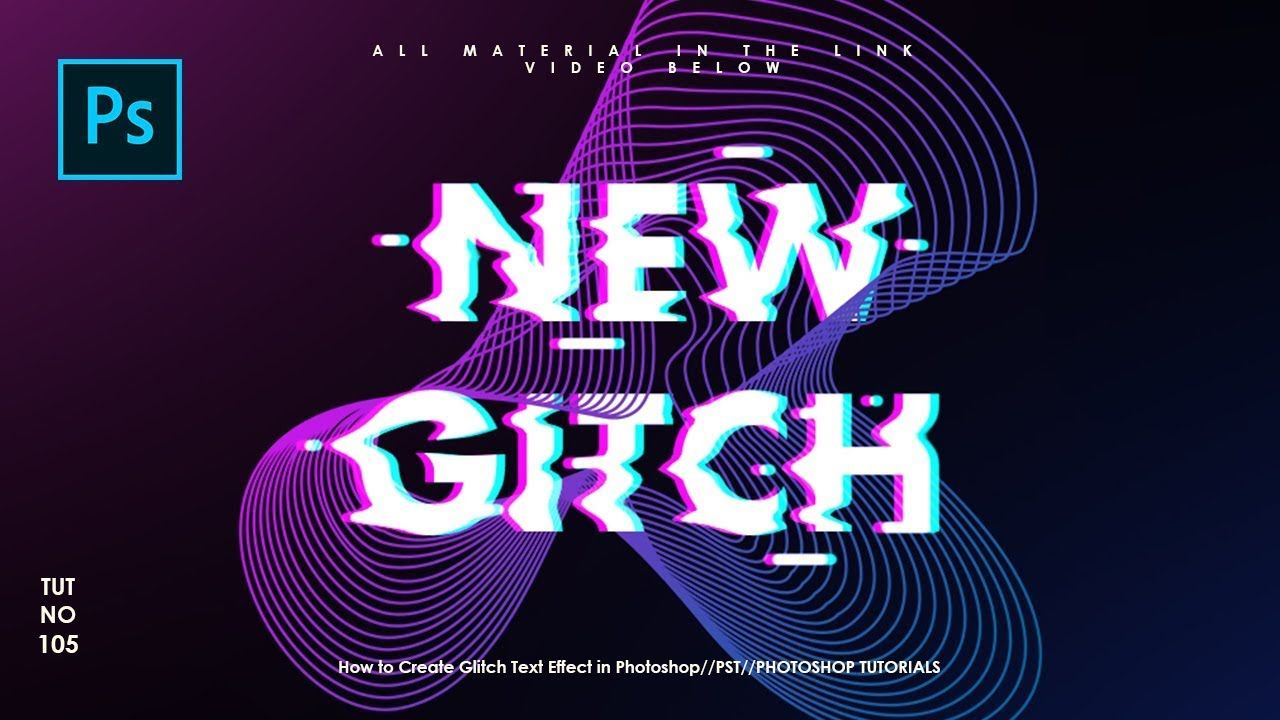 How to Create Glitch Text Effect in