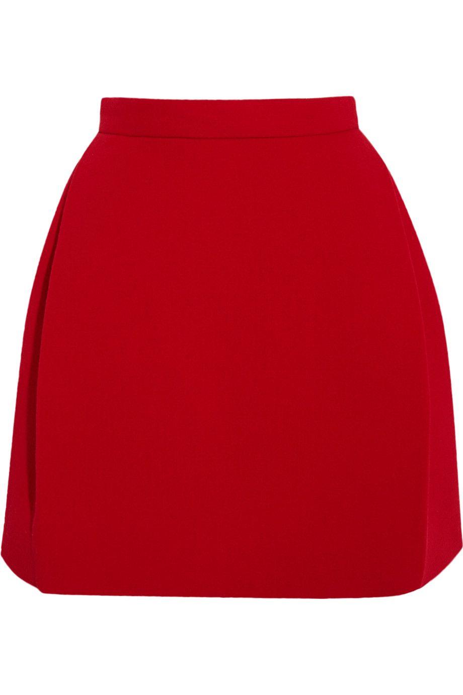 DELPOZO Wool-Blend Crepe Mini Skirt. #delpozo #cloth #skirt
