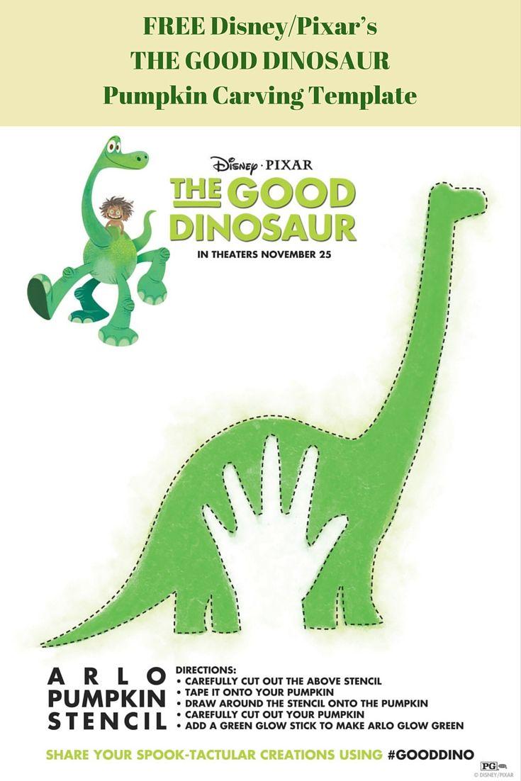 Disney/Pixar\'s THE GOOD DINOSAUR Pumpkin Carving Template | Pumpkin ...