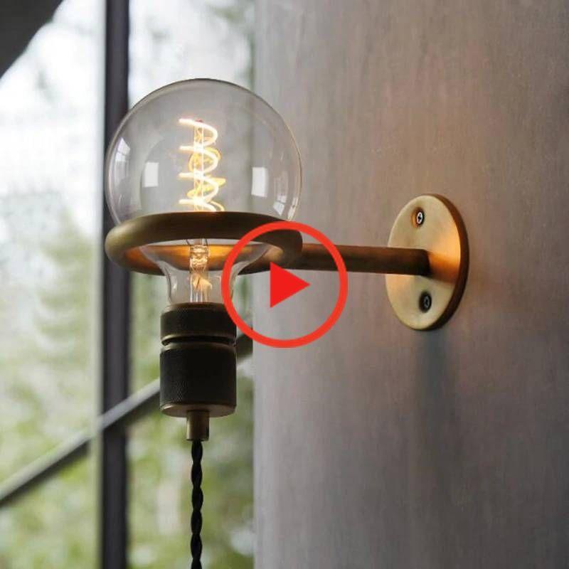 Loft Industrielle Lampe Restaurant Deco Leuchten Wohnzimmer Wandlamp Bedside Schlafzimmer Punk Pull In 2020 Wall Lights Industrial Lamp Led Wall Lights