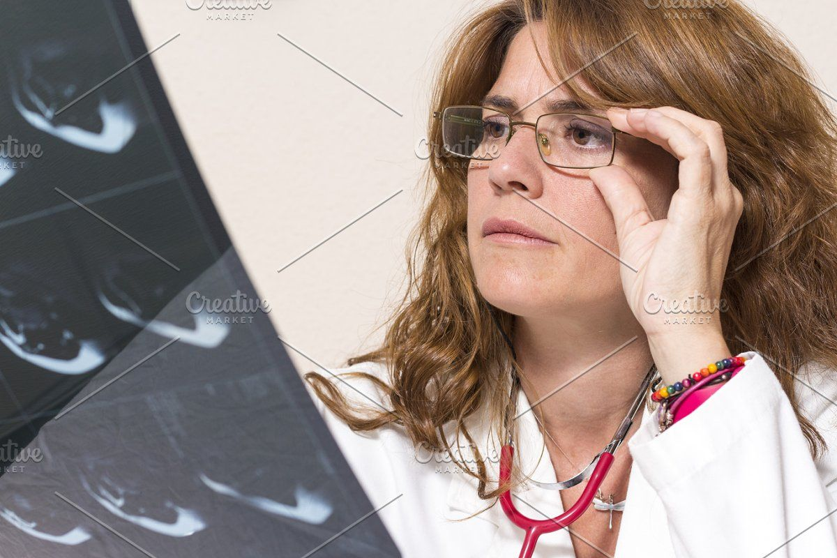 Worried Woman Doctor Female Doctor Food Logo Design Inspiration Women
