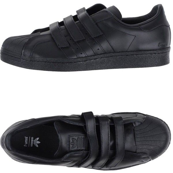 Mens velcro shoes, Black leather sneakers