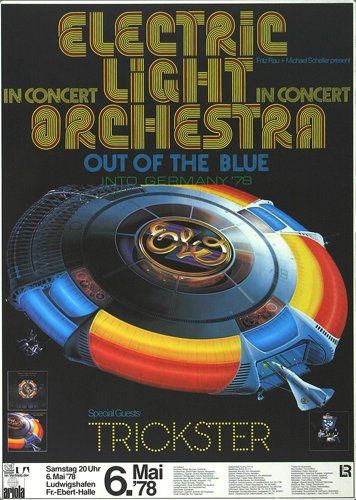 Electric Light Orchestra - Out Of The Blue 1978 - Poster Plakat Konzertposter