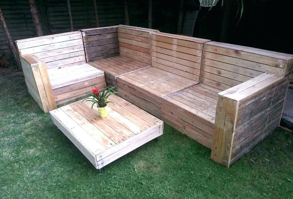 Patio Furniture From Pallets Diy Pallet Outside Furniture Pallet
