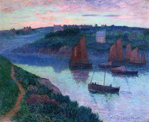 Bateaux de pêche en Bretagne - (Henri Moret)