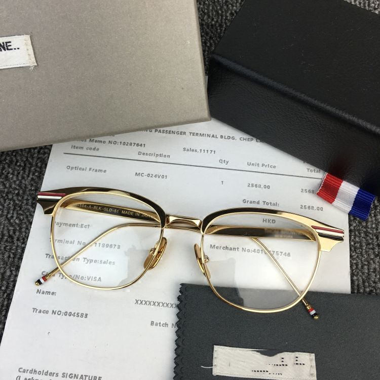 95bd01de74 Vintage Gold Eye Glasses Frame For Men Women Retro Square Eyeglasses Frames  Spectacles Eyewear Optical Lens