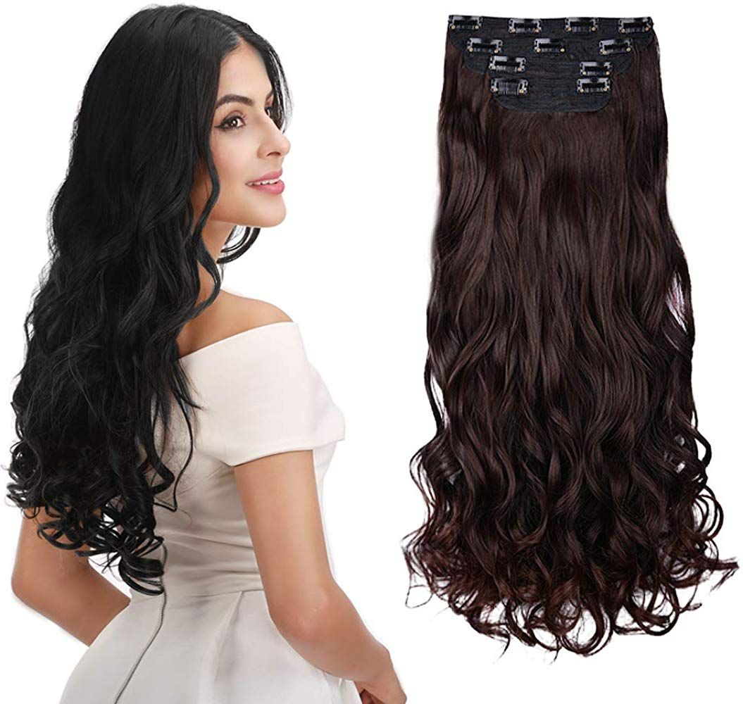 """REECHO 24"""" Curly Wavy 4 Pieces Set Thick Clip"""