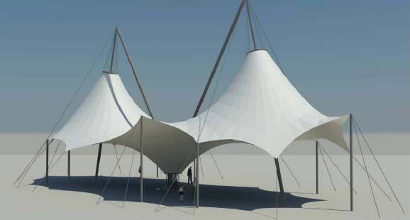 Fabric Structures Product : Tension fabric structure buy tensile product