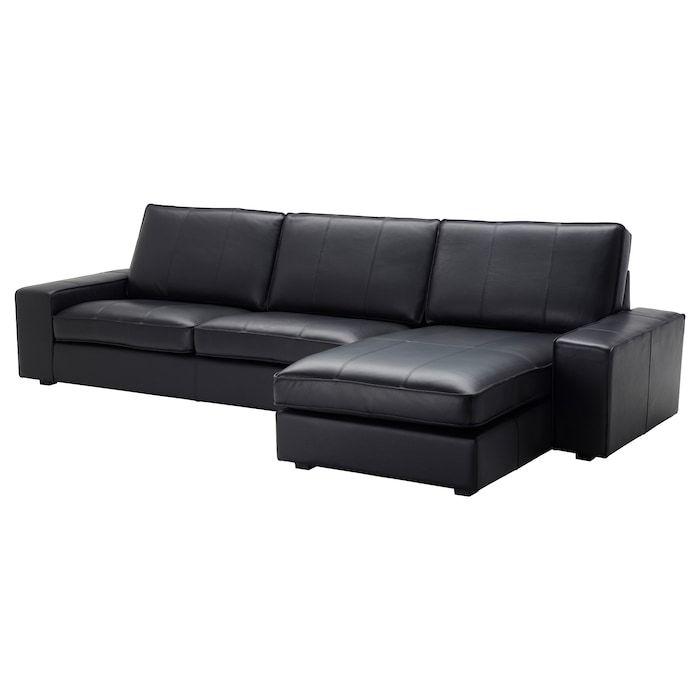 Kivik 4er Sofa Grann Mit Recamiere Grann Bomstad Bomstad Schwarz Ikea Deutschland In 2020 Chaiselongue Kunstleder Sofa Chaiselongue Sofa