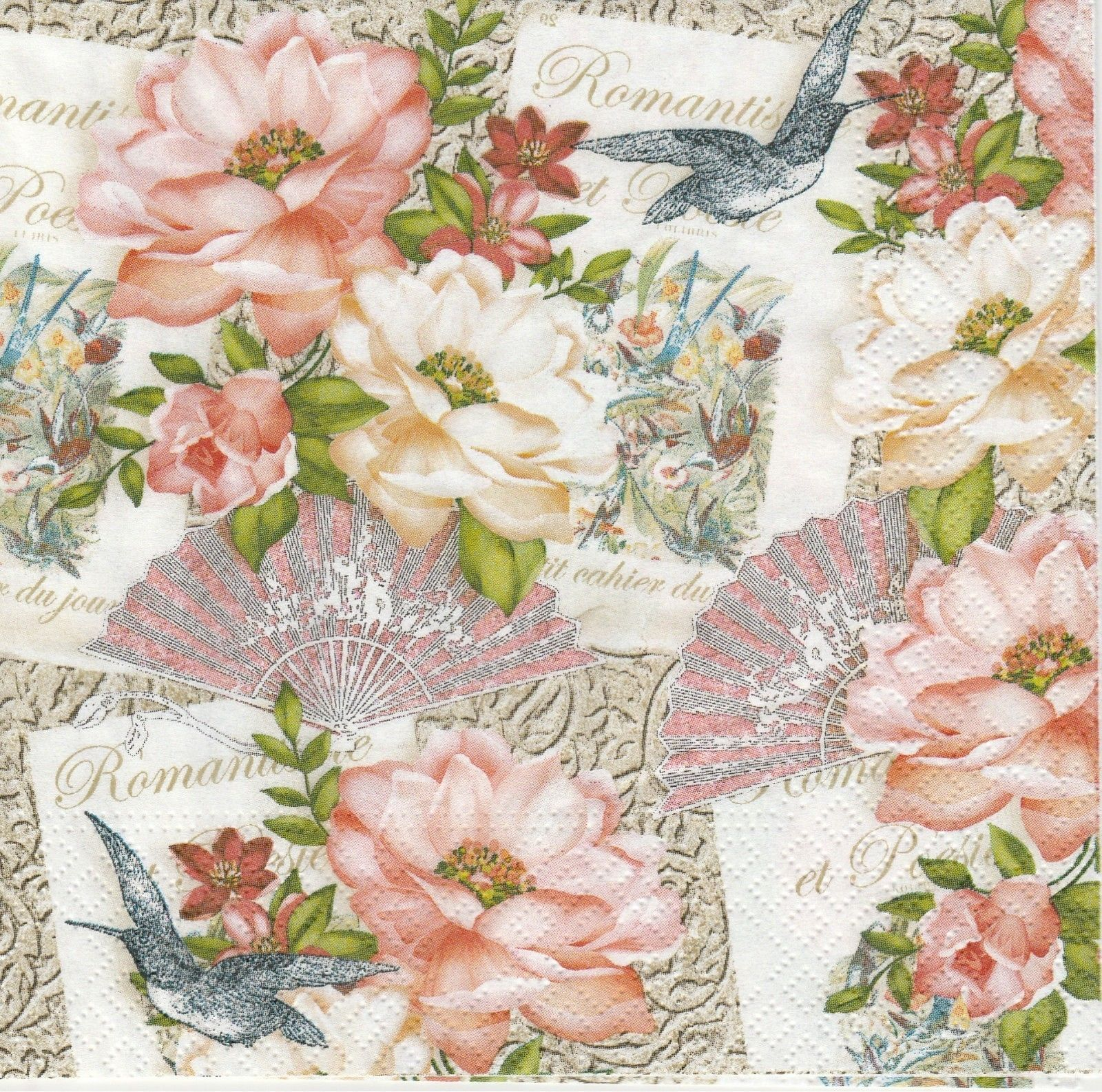 Tissue Crafting x 2 Serviette Vintage Angel Paper Napkins for Decoupage