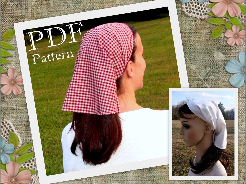 Veil Headcovering Pattern Veil Pattern Veil Head covering Pattern ...