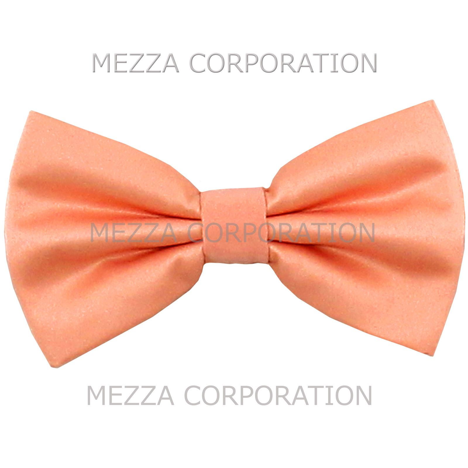 New formal men/'s pre tied Bow tie solid formal wedding party prom orange
