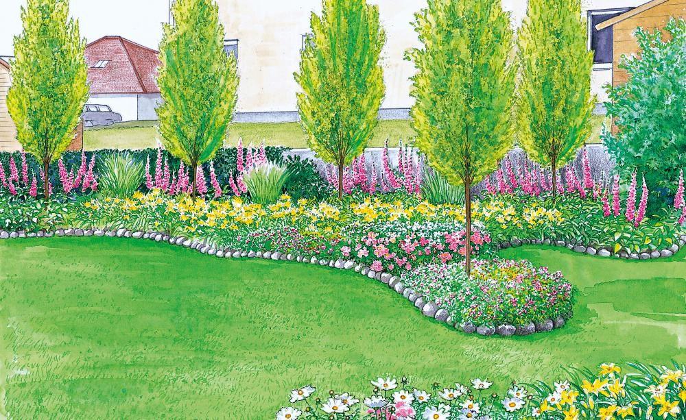 Sichtschutz für einen kurzen, breiten Garten Aufstellen - mein schoner garten vorgarten