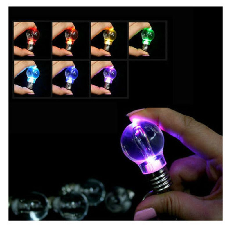 Different Colors LED Flash Lights Mini Bulb Torch Key Chain Keyring