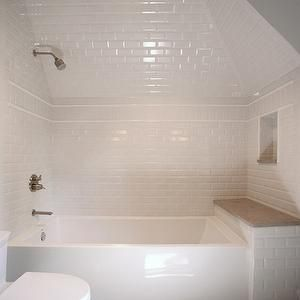 Dormer Shower, Transitional, Bathroom, CR  Home Design