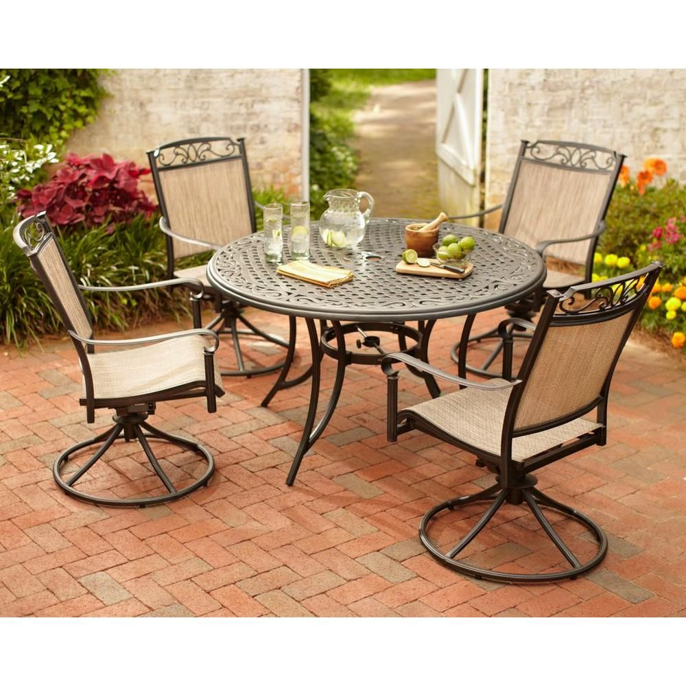 Best Hampton Bay Santa Maria 5 Piece Patio Dining Set S5 400 x 300
