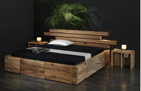 holzbetten massivholzm bel bett brunhilde aus sumpfeiche. Black Bedroom Furniture Sets. Home Design Ideas