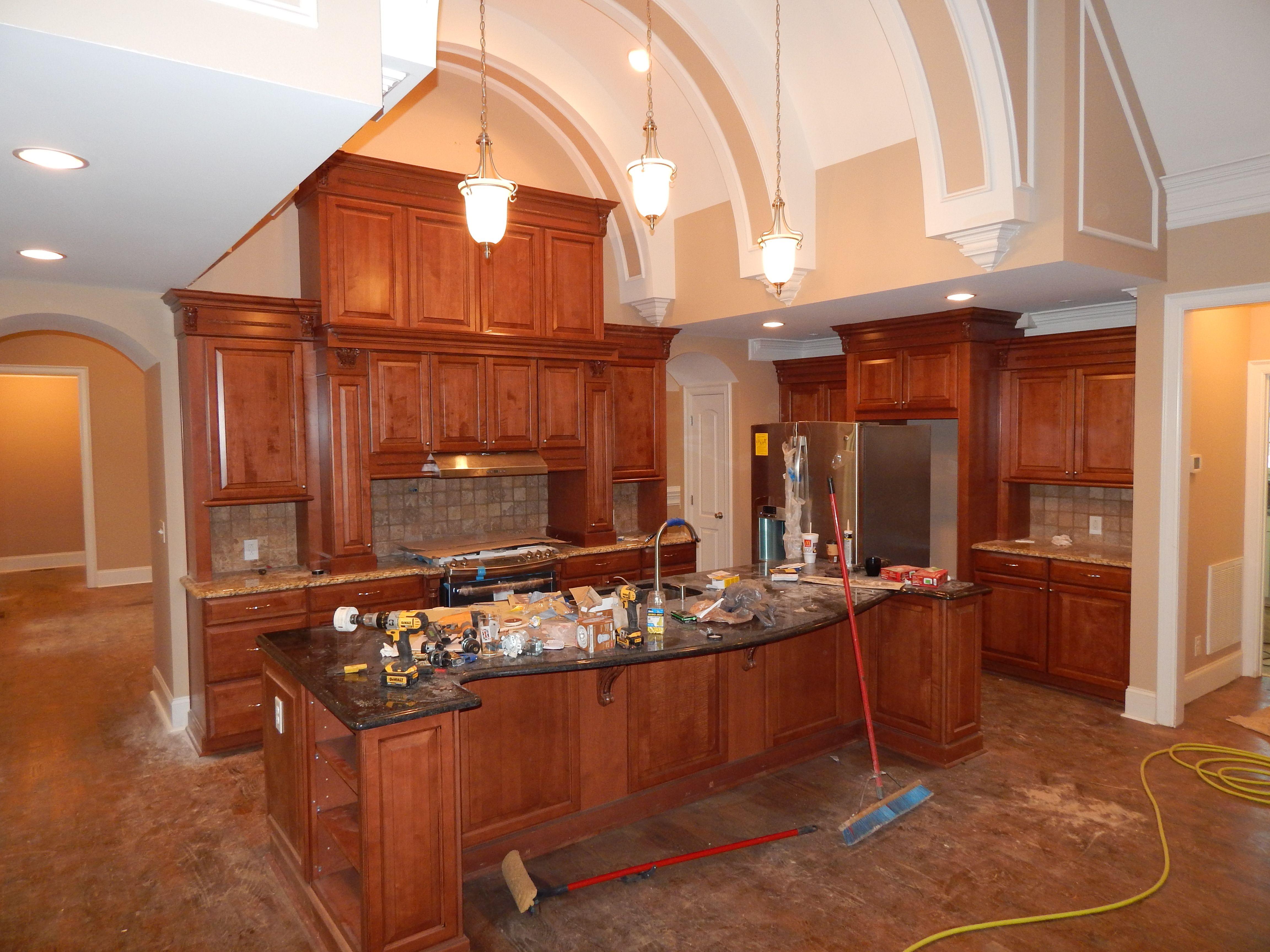 Cocoa Glaze Cabinets | kitchen | Pinterest | Kitchens, Maple ...