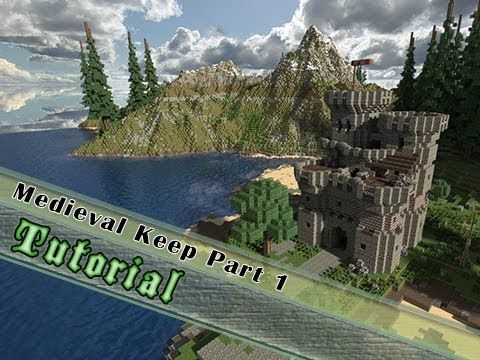 Minecraft Tutorial How To Build A Medieval Keep Castle