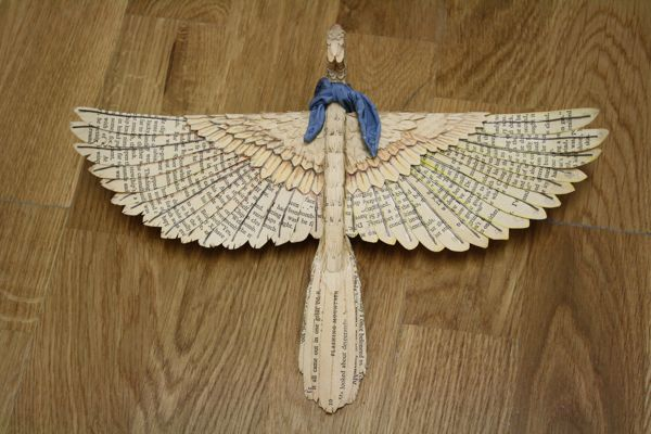 Hand made paper bird by Zack Mclaughlin, via Behance