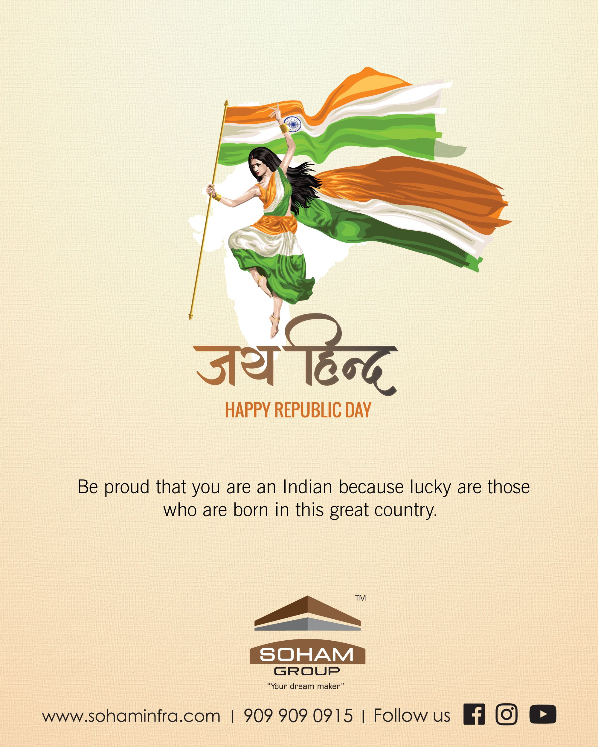 Happy Republic Day Greetings Design 26 January Post Happy Republic Day Republic Day Happy Independence Day Quotes