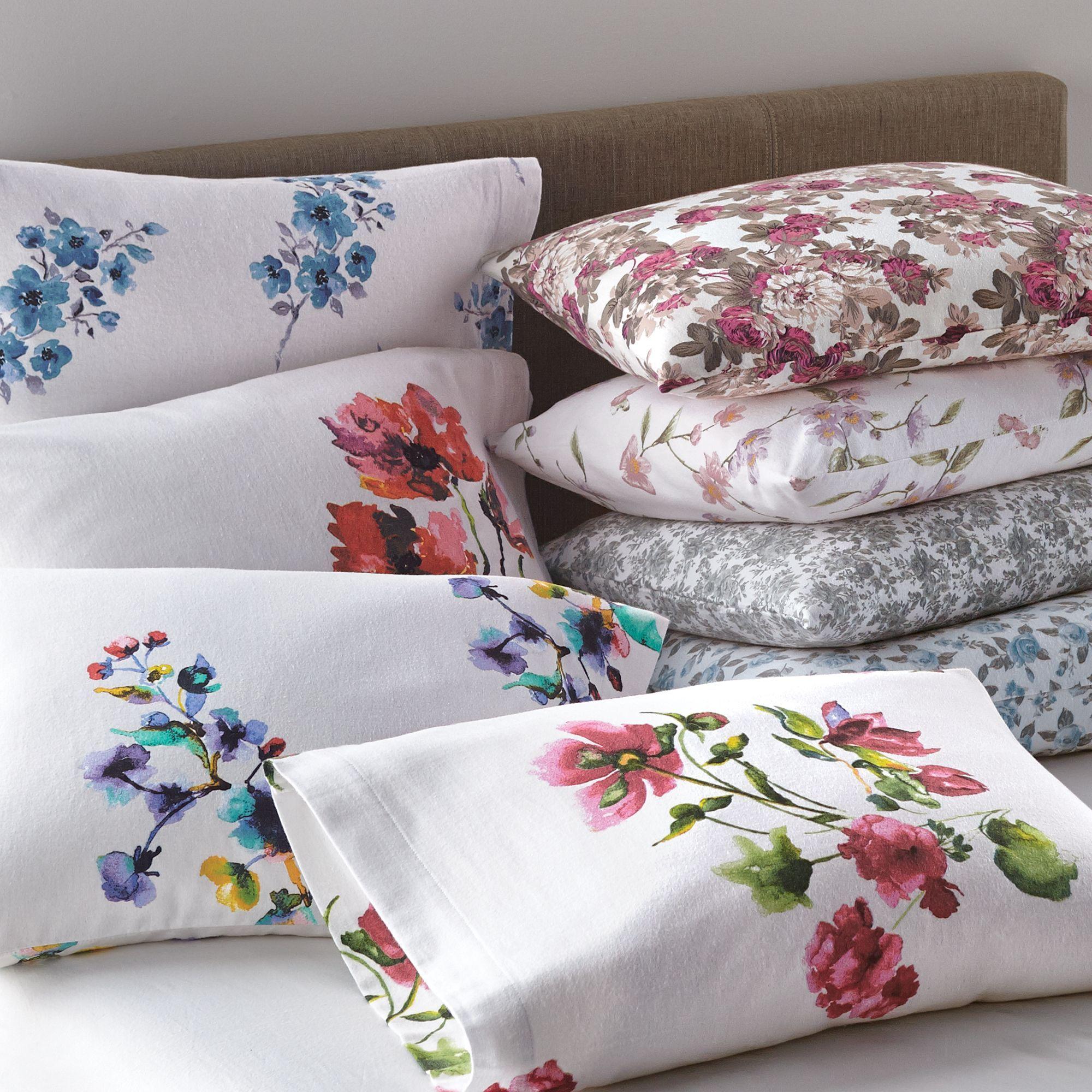Grand Patrician® Floral Print Cotton Flannel Sheet Set