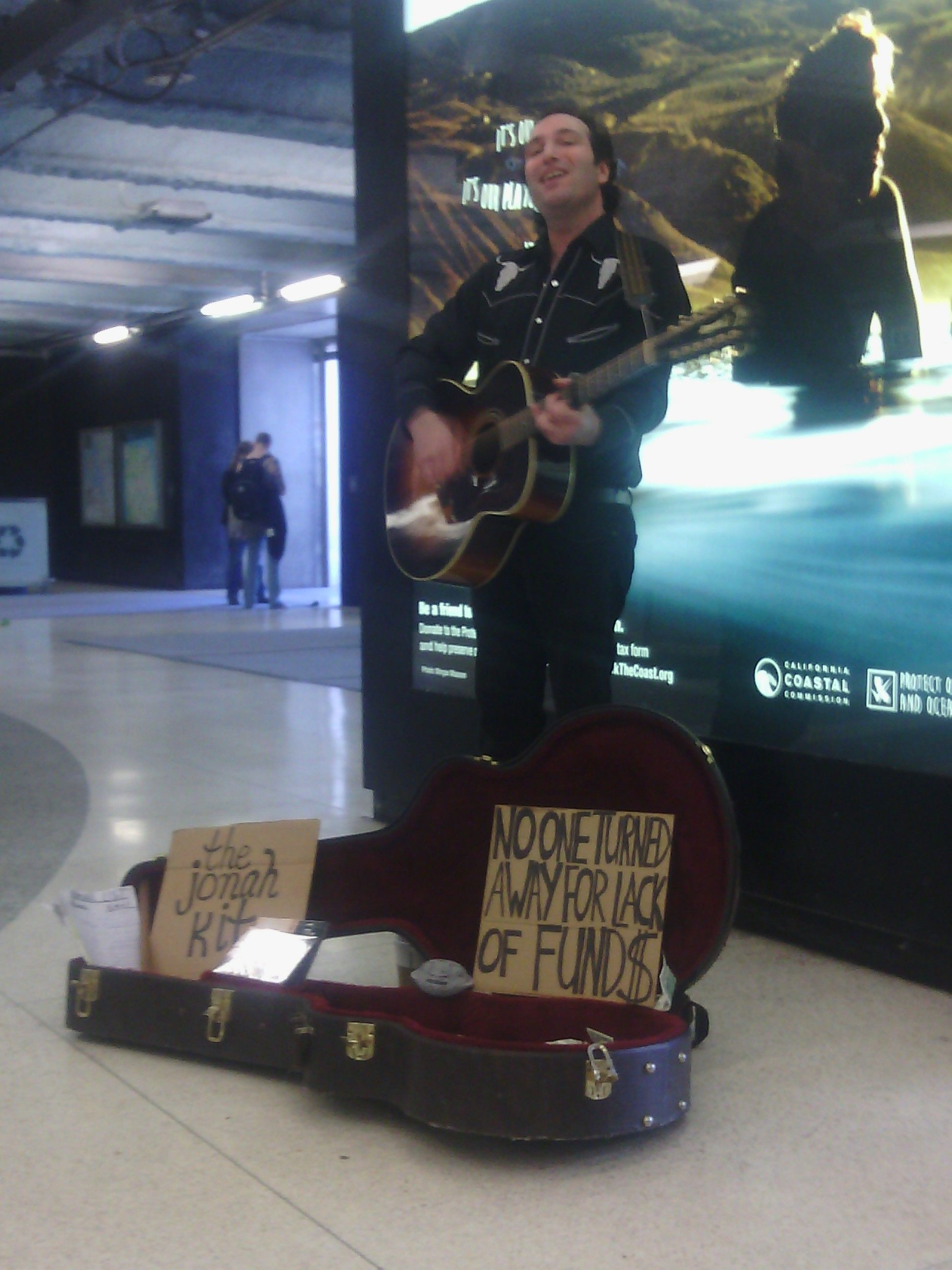 Performance outside a financial context=freedom=busking! San Francisco Street Performer.