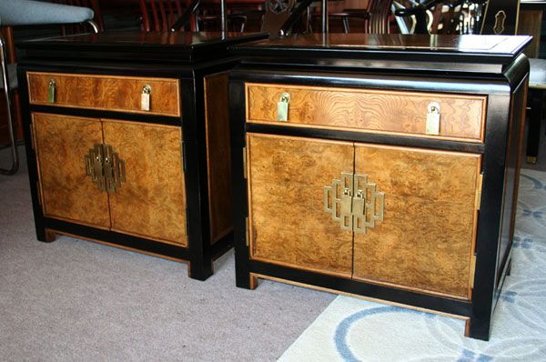 Chin Hua By Century Asian Style Nightstand End Table Set End Table Sets End Tables Table Settings
