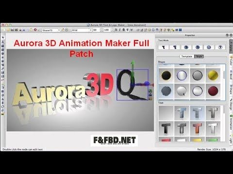 Aurora 3d Animation Maker Full Patch Logo Maker Text Logo Text Graphics