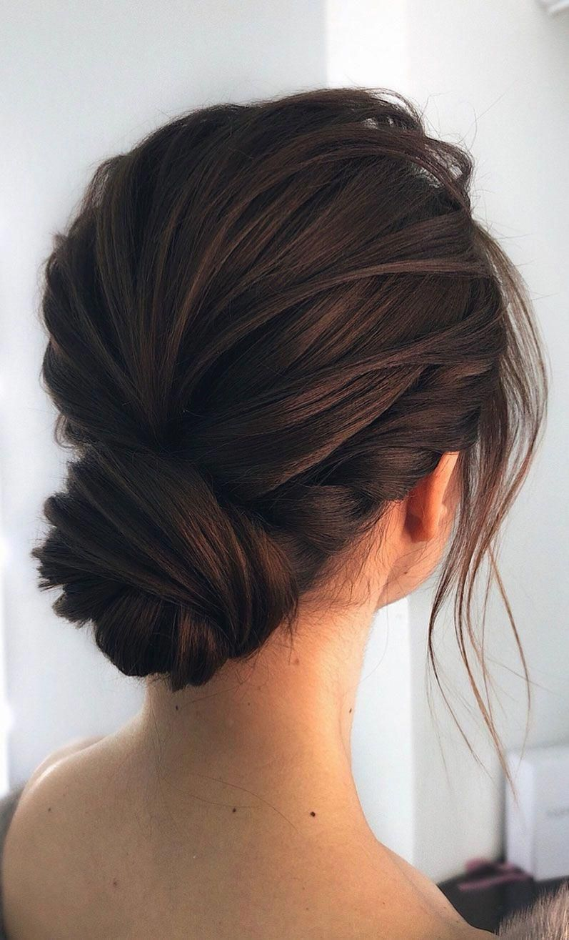 Unique Wedding Updo Hairstyle Messy Updo Bridal Hairstyle Updo Hairstyles Wedding Hairstyles Weddinghair Hairsty Hair Up Styles Chic Hairstyles Hair Styles