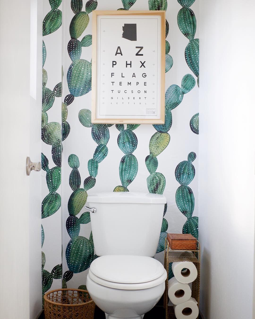 Pin By Coloray Decor On H O M E Removable Wallpaper Bathroom Bathroom Decor Boho Bathroom