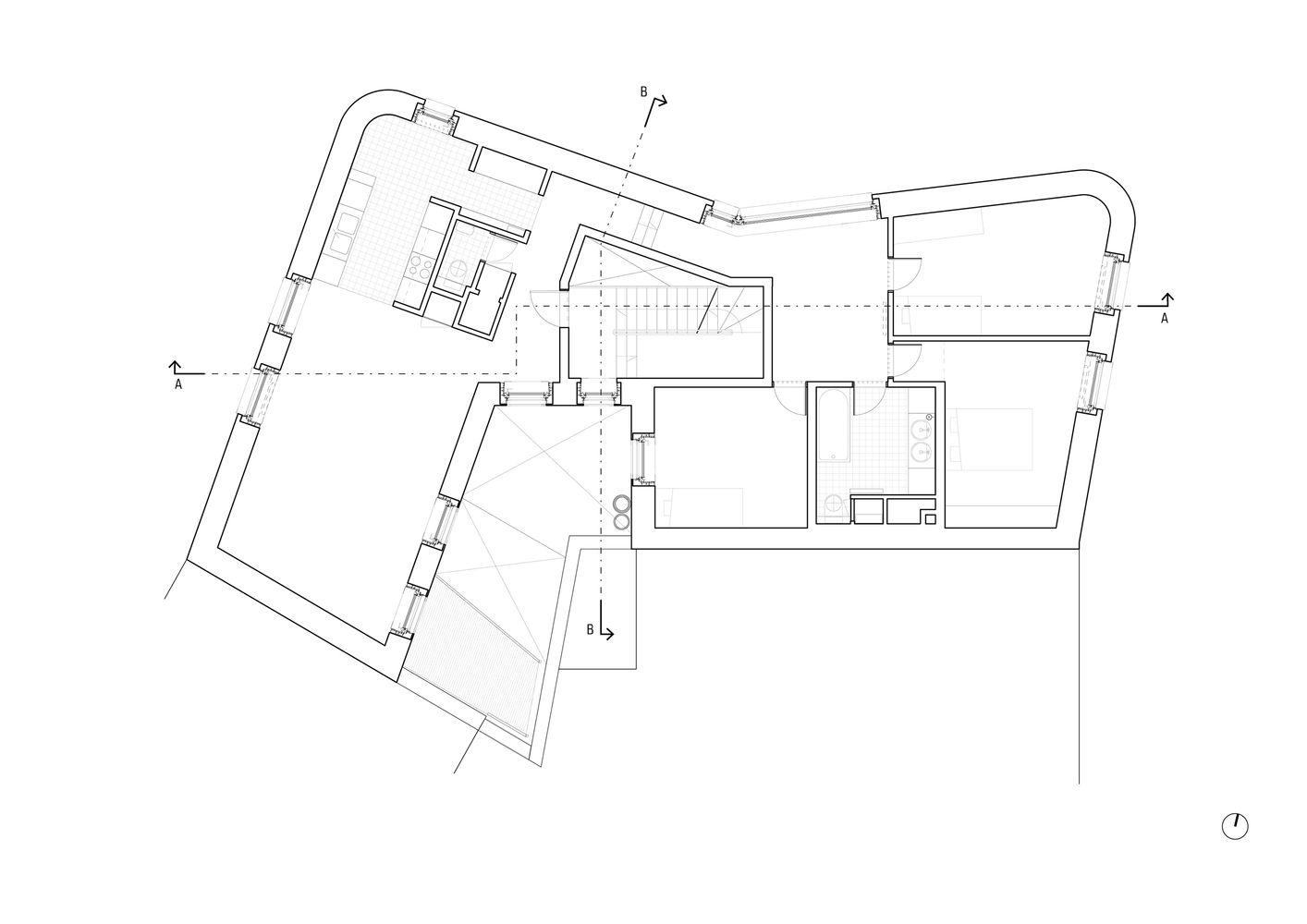 5 Social Housing Units in Navez,Floor Plan