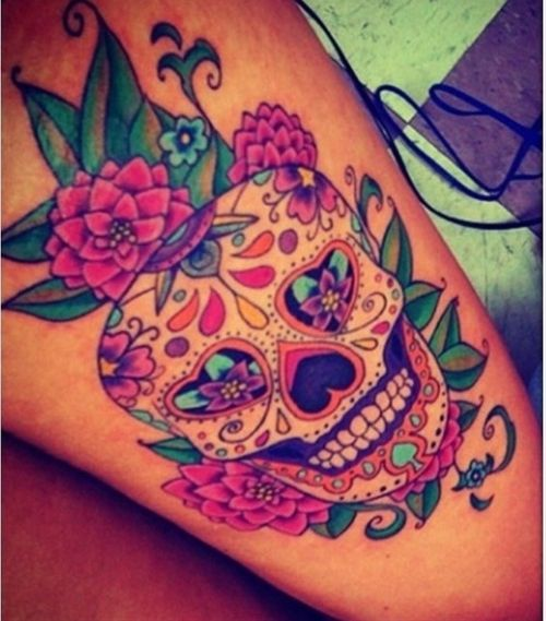Sugar skull tattoo....might add to my collection some day