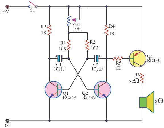 Simple Metronome #BC549Circuit using #Transistor it can generate ...