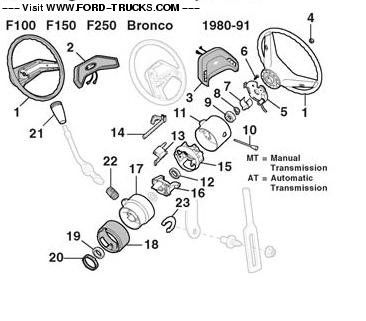 1978 ford bronco steering column