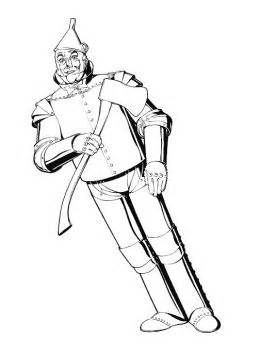 Tin Man Colouring Pages Wizard Of Oz Color Wizard Of Oz Coloring Pages